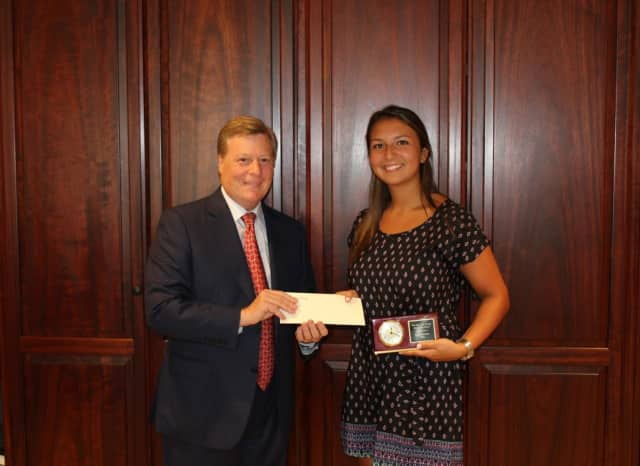 Eastchester's Briana Balsamo was awarded the first annual Pepe Auto Group scholarship.