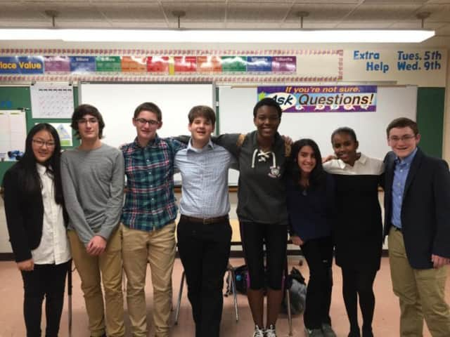 Nearly 100 Albert Leonard Middle School students gathered for the New Rochelle school district's Model UN Summit.