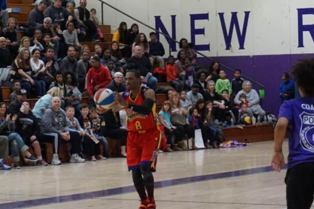 The Harlem Globetrotters took their talents to New Rochelle High School on March 5.