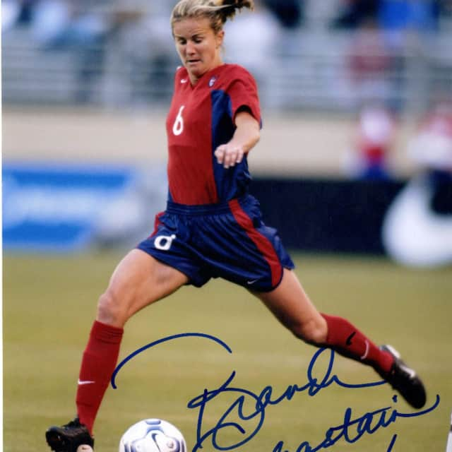 Brandi Chastain will host a soccer camp through the Next Level Camp for Girls.