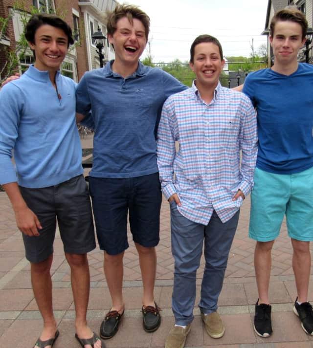 The WestchesterEats team; left to right: Zachary Tuzzo, Evan Miller, Robert Waxman, William Cohen