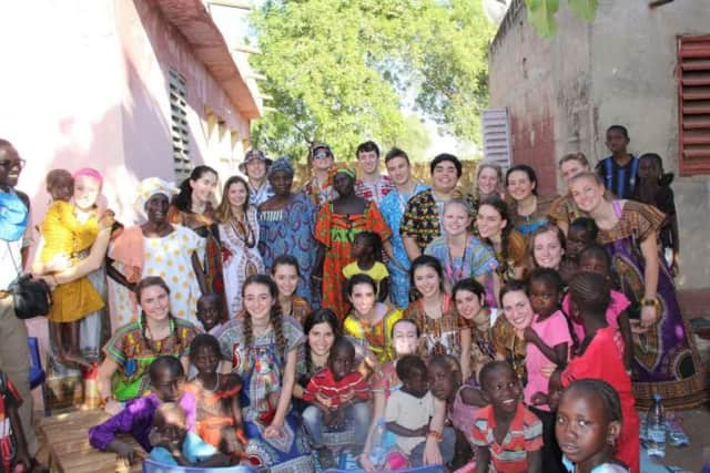 Mamaroneck High School students, part of the club, Students for Senegal, in Senegal.