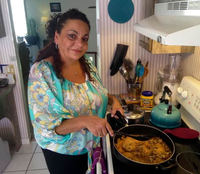 Virginia Vaccaro cooks up madeira chicken.