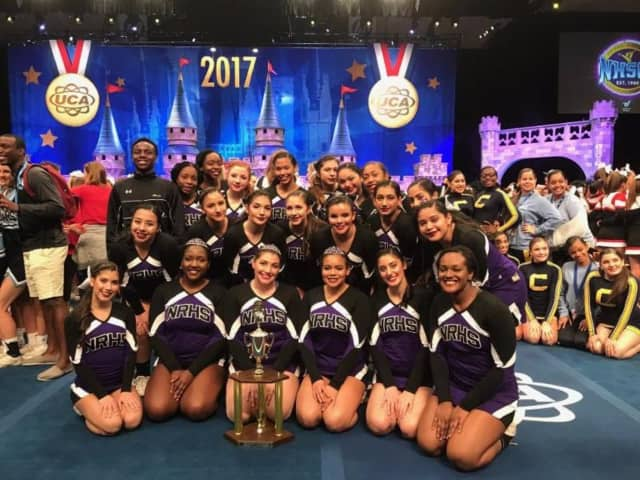 New Rochelle High's Junior Varsity cheerleaders finished sixth in the nation at the annual Universal Cheerleading Association (UCA) National Cheerleading Championship in Orlando, Fla.
