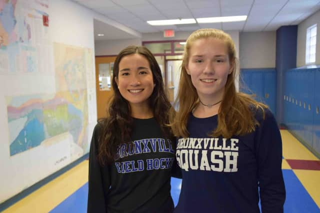 From left, Hannah Weirens and Hadley Barr