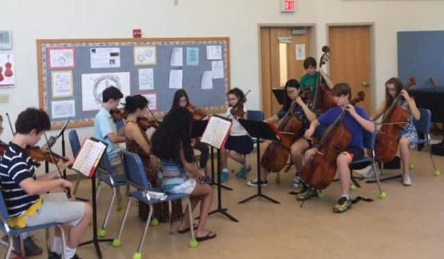 Bronxville Middle School's seventh- and eighth-grade chamber ensemble students performed for an audience of first- and second-graders during a special concert.