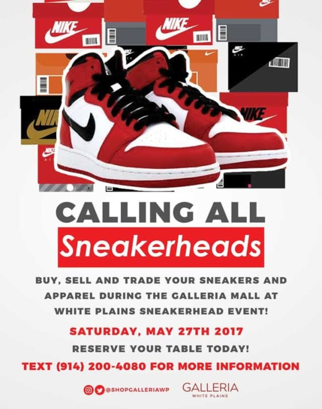 Sneaker lovers will want to head to the Galleria at White Plains on Saturday for 'Sneakerheads.'