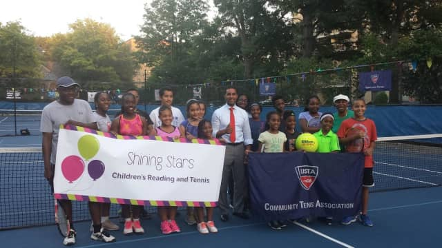 Councilman Richard Thomas recently visited the children of Shining Stars Children's Reading and Tennis.