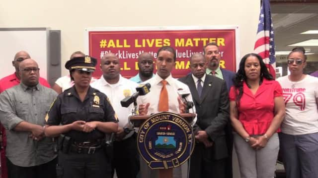 Mount Vernon Mayor Richard Thomas is calling on the community to come together in the wake of several police-involved shootings.