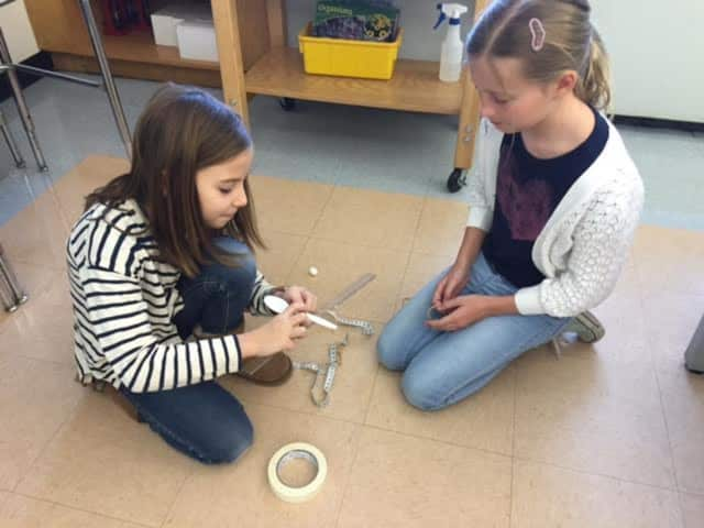 Bronxville Elementary School fourth-graders created their own catapults during a unit study on energy.