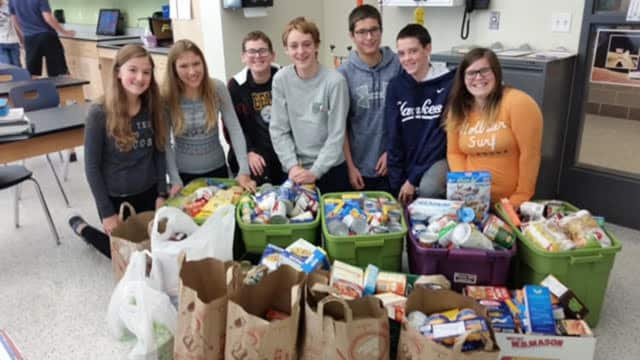 The Eastchester Middle School Student Council would like to thank everyone who brought in donations for the local ECAP program food drive.