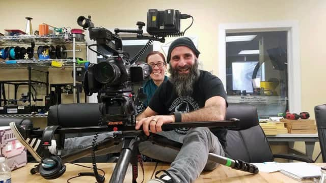 Shooting scenes for The Jeskid TV Show pilot in Danbury.