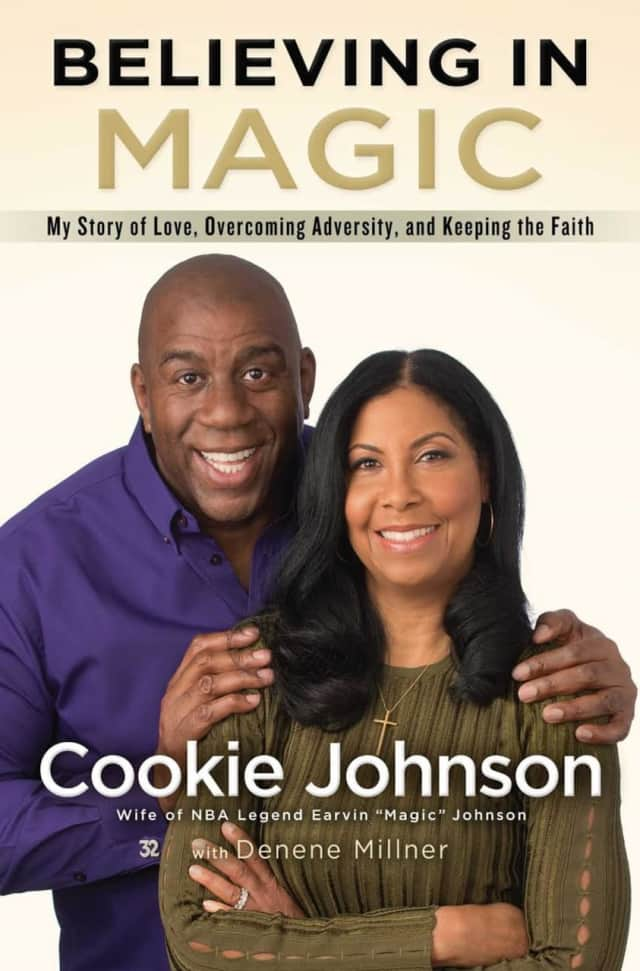 "Cookie Johnson will sign copies of her book, ""Believing In Magic"" today in New Rochelle."