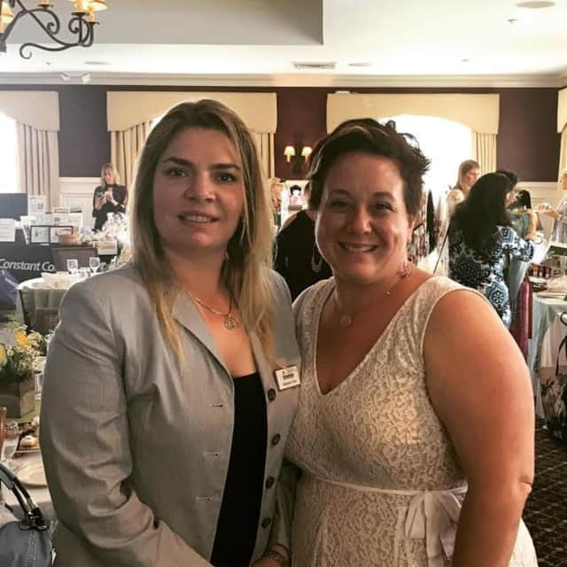 CEO and Owner of Ridgefield Supply, Margaret Price, with Executive Director of the Ridgefield Chamber of Commerce, Jennifer Zinzi