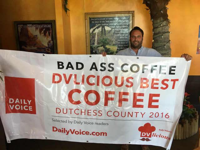 John Ferrara, owner of Bad Ass Coffee in Wappingers Falls.