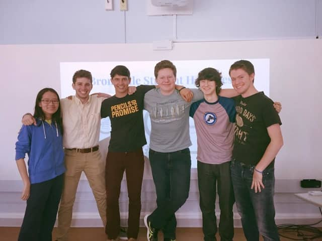 Members of the Student Help Desk, from left, Caroline Paulson, David DiMolfetta, Remi Laurence, Charles Vorbach, Kenneth Taylor and William Cioffi.