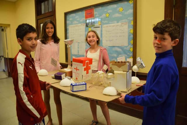 Bronxville Middle School sixth-graders worked together to investigate what it takes to live on the moon before building their own models of possible lunar colonies.