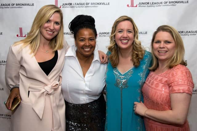 From left, Olivia Huvane, Fashion Show captain; Kamili Bell Hill, event co-chair; Michelle Schoulder, fundraising vice president; Elizabeth Morgan, event  co-chair.