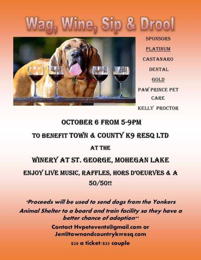 "Get ready to ""Wag, Wine, Sip and Drool"" Oct. 6."