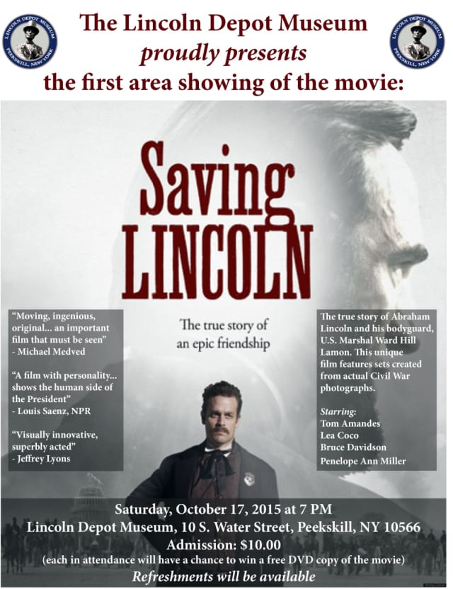 """The Lincoln Depot Musuem will screen the acclaimed film """"Saving Lincoln"""" on Oct. 17 at 7 p.m."""