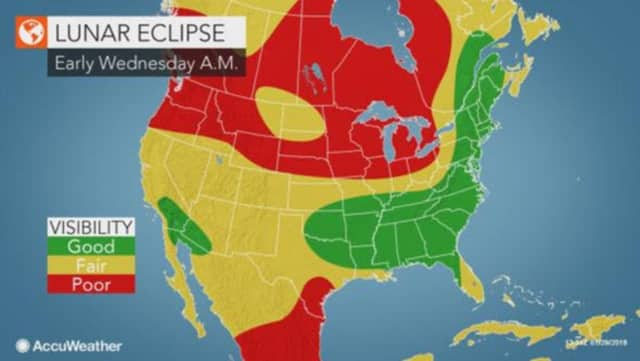 Area residents should be treated to good viewing conditions with the timing of the event scheduled for 6:48 a.m. EST, when a partial eclipse starts and should be viewable in this region.
