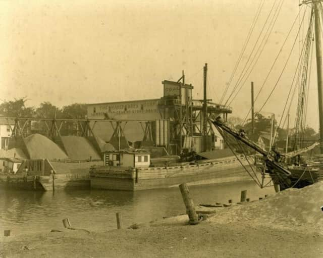 """The Steamboat Road docks (circa 1920) eventually morphed from a gritty, working waterfront area to prime Greenwich real estate. Learn how and when during Aug. 11's """"Cruising Through the Past"""" event sponsored by the Greenwich Historical Society."""