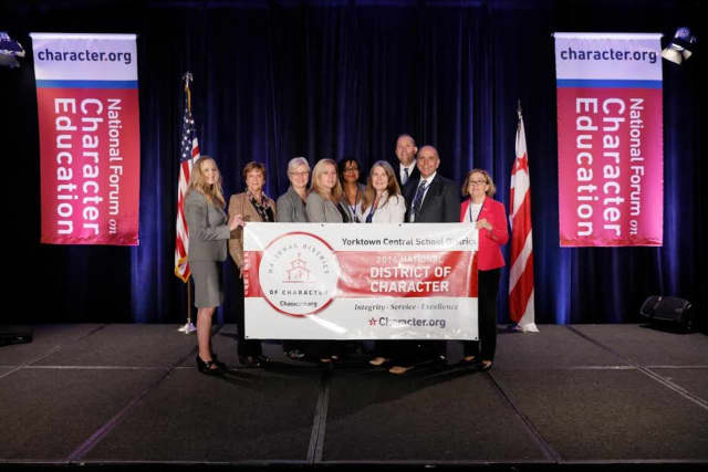 The Yorktown School District was honored as a district of character.