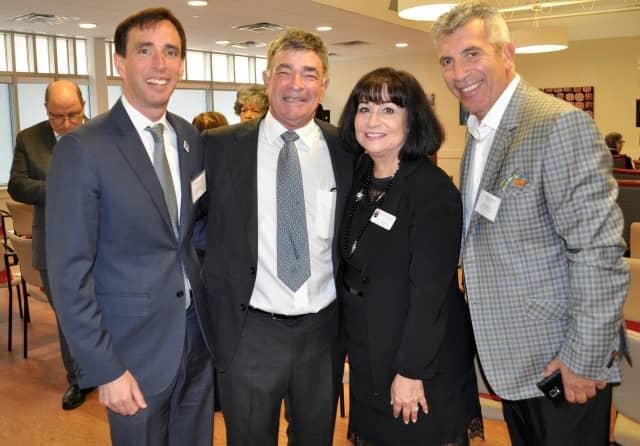 Mayor Noam Bramson; Donald Duberstein, Rita Mabli, and Anthony Nardozzi, United Hebrew of New Rochelle