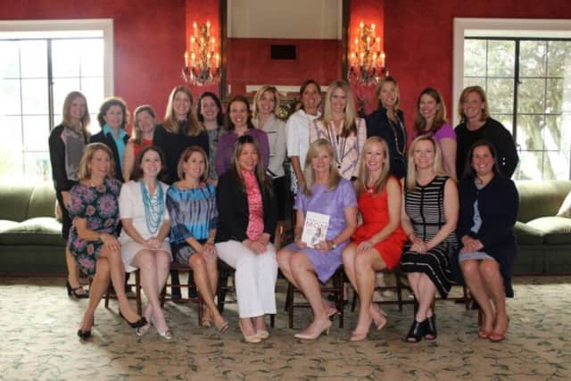 Current and former Opus presidents, along with Person-to-Person Executive Director Ceci Maher, reconnect at luncheon featuring guest speaker and former Opus President Holly Hurd.