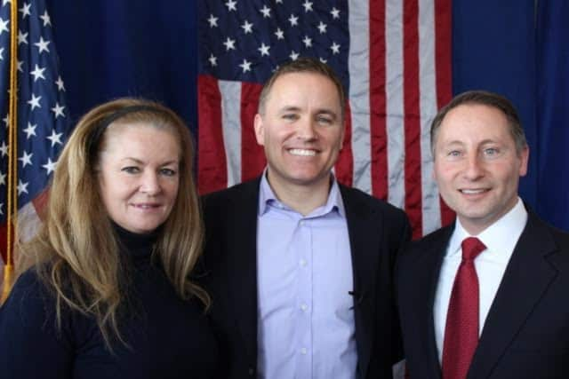 Phil Oliva, center, is pictured with Westchester County Executive Rob Astorino, right, and Putnam County Executive MaryEllen Odell. Oliva is running for the Republican nomination in the 18th Congressional District.