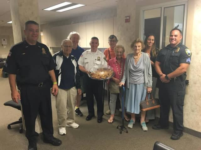 Atria seniors gave thanks to Ossining first responders last week.