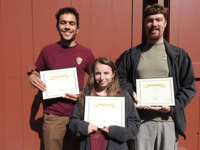 Weir Farm honored Tanner Burgdorf of Bridgeport, a natural resources intern, as well as Claire Tensa of Danbury and Josh Pfohl of Ridgefield, both youth ambassador interns. The awards were presented at the park in a ceremony on Sept. 22.