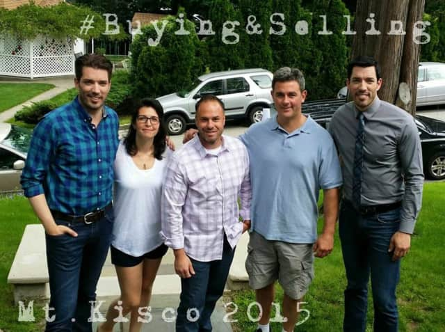 Promotional material for a Property Brothers episode that includes a Mount Kisco house.