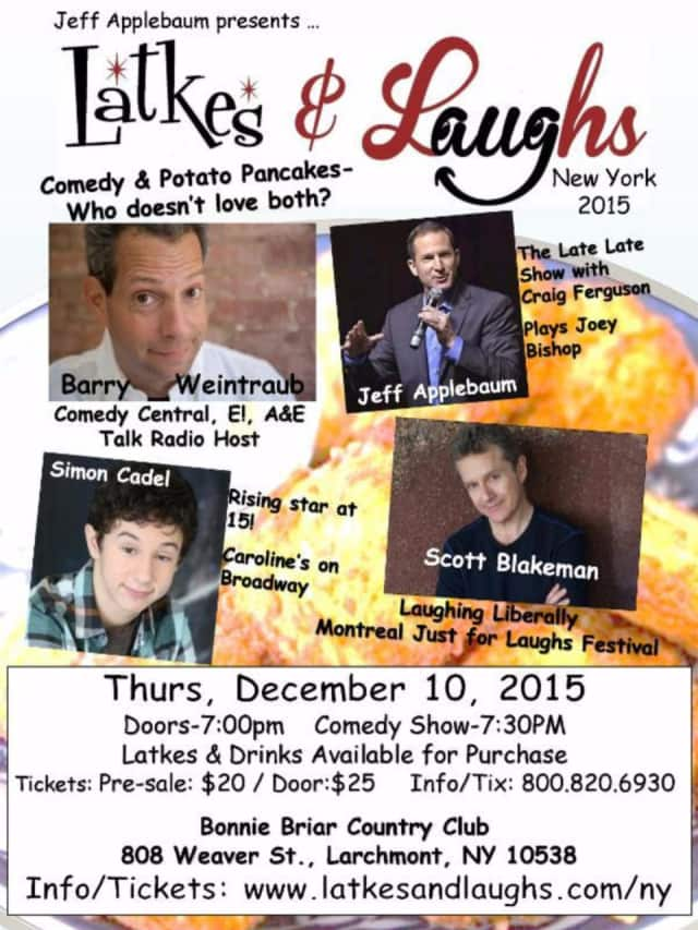 Latkes & Laughs comedy night in Larchmont will benefit Israel Guide Dog Center for the Blind Comedian.