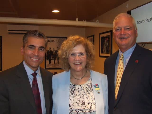 From left, Thomas Picone of Mass Mutual Westchester; Betsy Steward of Westchester Children's Association; and John Tolomer, president of The Westchester Bank and co-chair of Westchester Companies for Kids (WC4K), at a recent kick-off event.