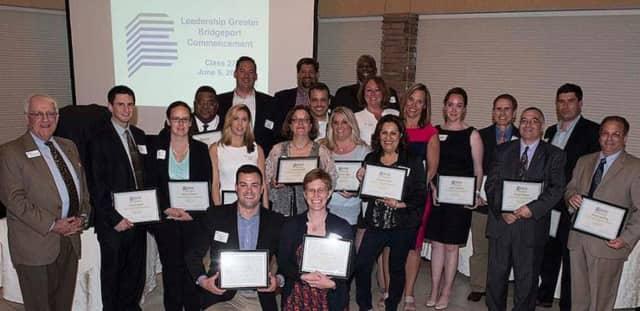 Recent graduates of the Bridgeport Regional Business Council's Leadership Greater Bridgeport program