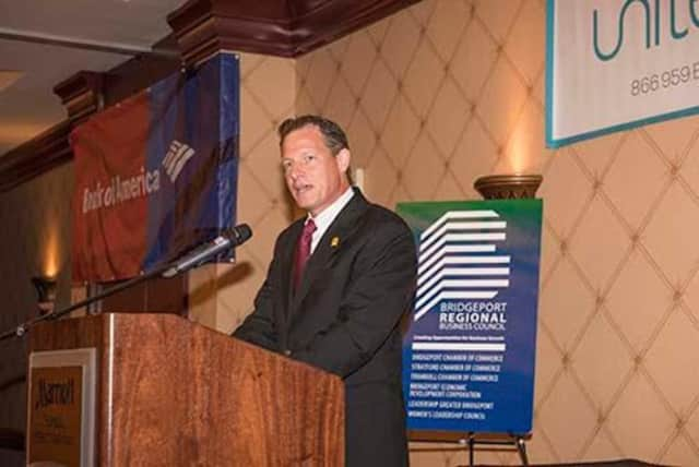 Larry Janesky, CEO of Connecticut Basement Systems, was the keynote speaker at the Bridgeport Regional Business Council's annual meeting June 23.