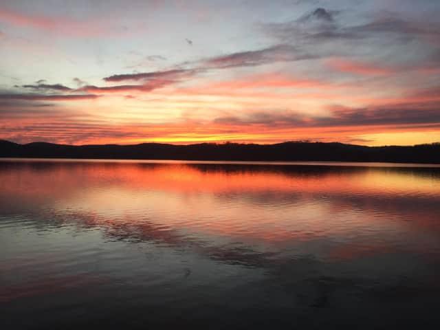 Sunset at Croton Falls Reservoir.