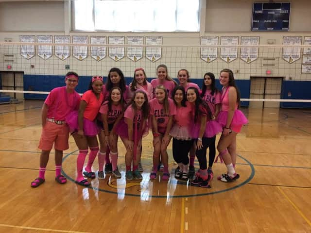The Pelham volleyball team is coming together to raise money for breast cancer research.