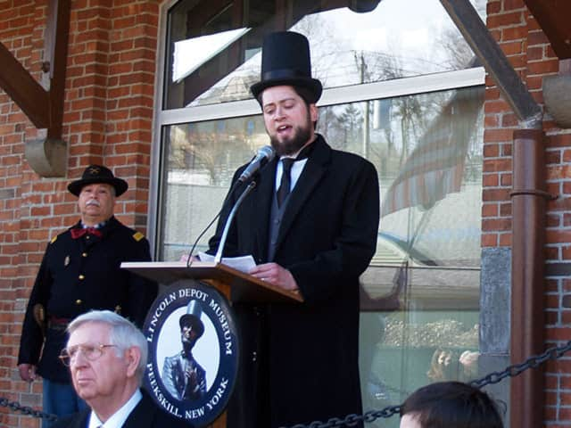 The Lincoln Society in Peekskill held a reenactment at the Lincoln Depot Museum.