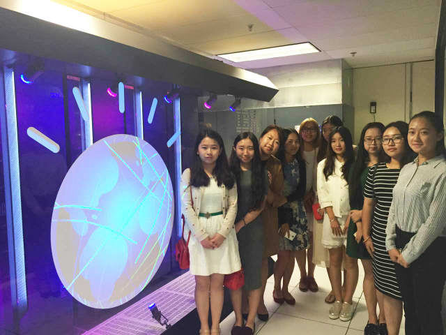 Students from Guizhou University of Finance and Economics visited the IBM Thomas J. Watson Research Center.