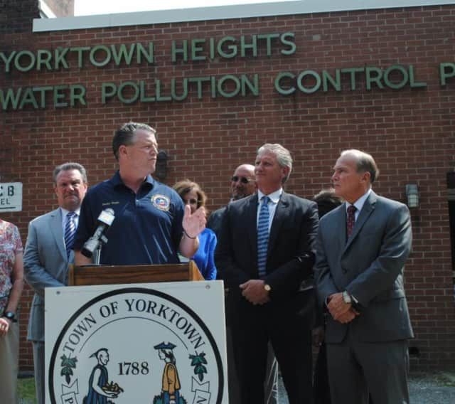 State Sen. Terrence Murphy and Yorktown officials have announced Yorktown's approval to issue new permits in the Hallocks Mill Sewer District.