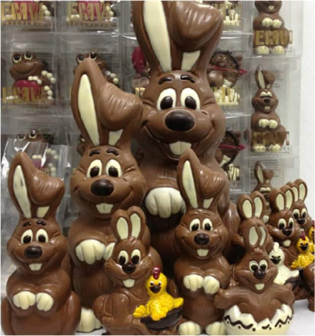 Easter bunny chocolates are some of the goodies at Imagine Candy.