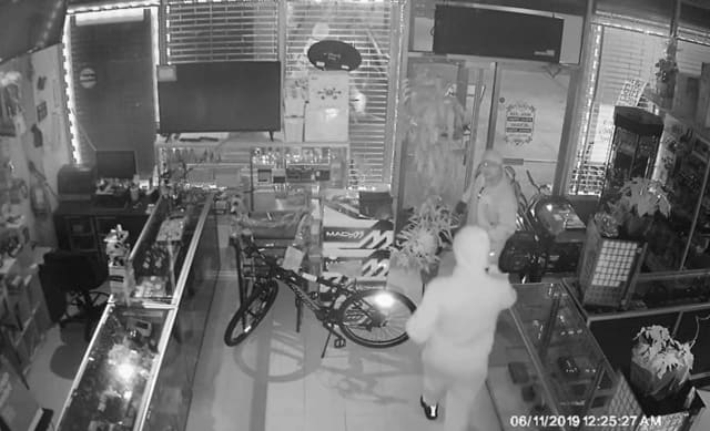 Police are asking for help identifying two men who allegedly burglarized the EZ Pawn Shop.