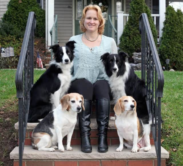 Jodi Kellar-Jackson with her dogs.