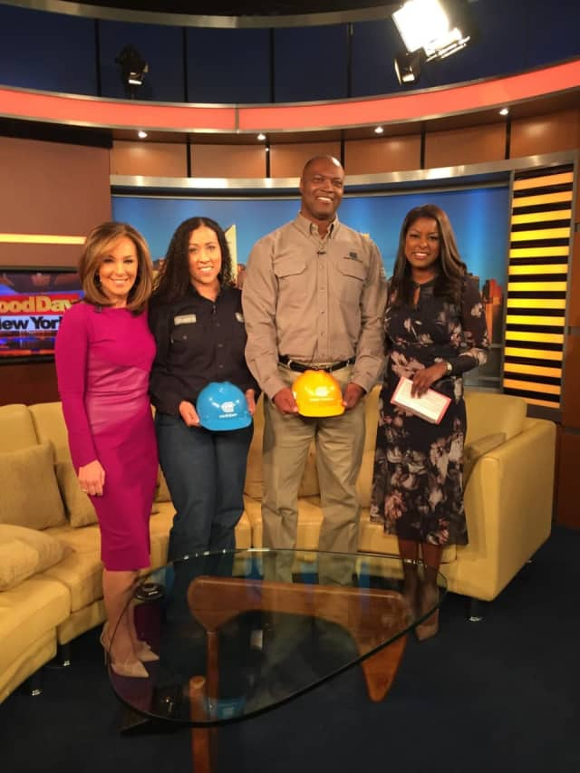 "Peekskill resident Shakira Wilson (second from the left) recently appeared on Fox 5 TV ""Good Day NY"" describing her duties along with O&R's Orville Cocking, who just returned from duty in Puerto Rico."