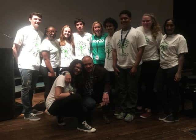 Mark Barton, founder and managing director at Sandy Hook Promise, spoke to more than 200 New Rochelle students about creating a positive school culture.