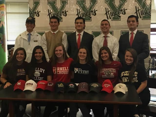Yorktown athletes signed their letters of intent Tuesday.