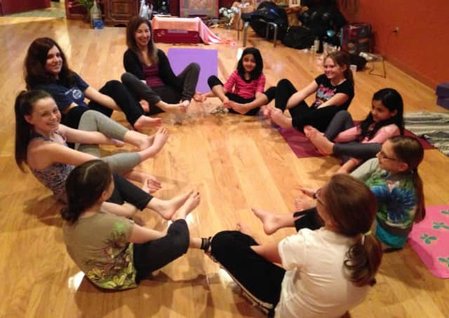 Students from School No.3 will learn about Yoga during Wellness Week.