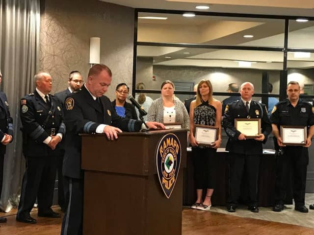 The Ramapo Police Department recognized 42 officers, residents and dispatchers during their annual awards ceremony.